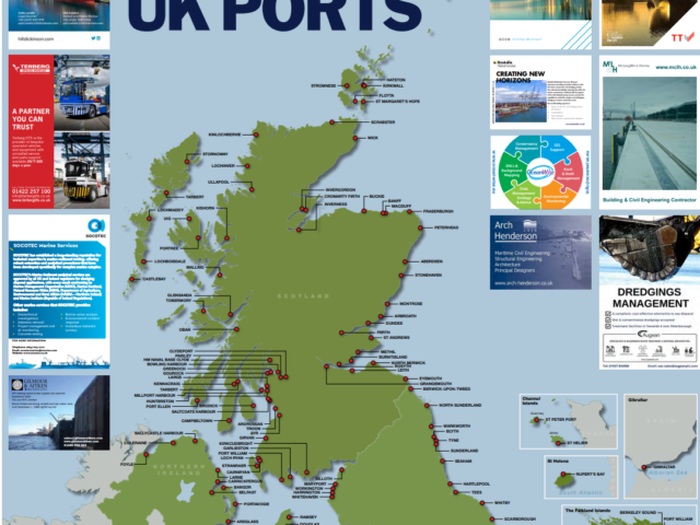 New map shows the scale of ports and harbour coverage across the UK